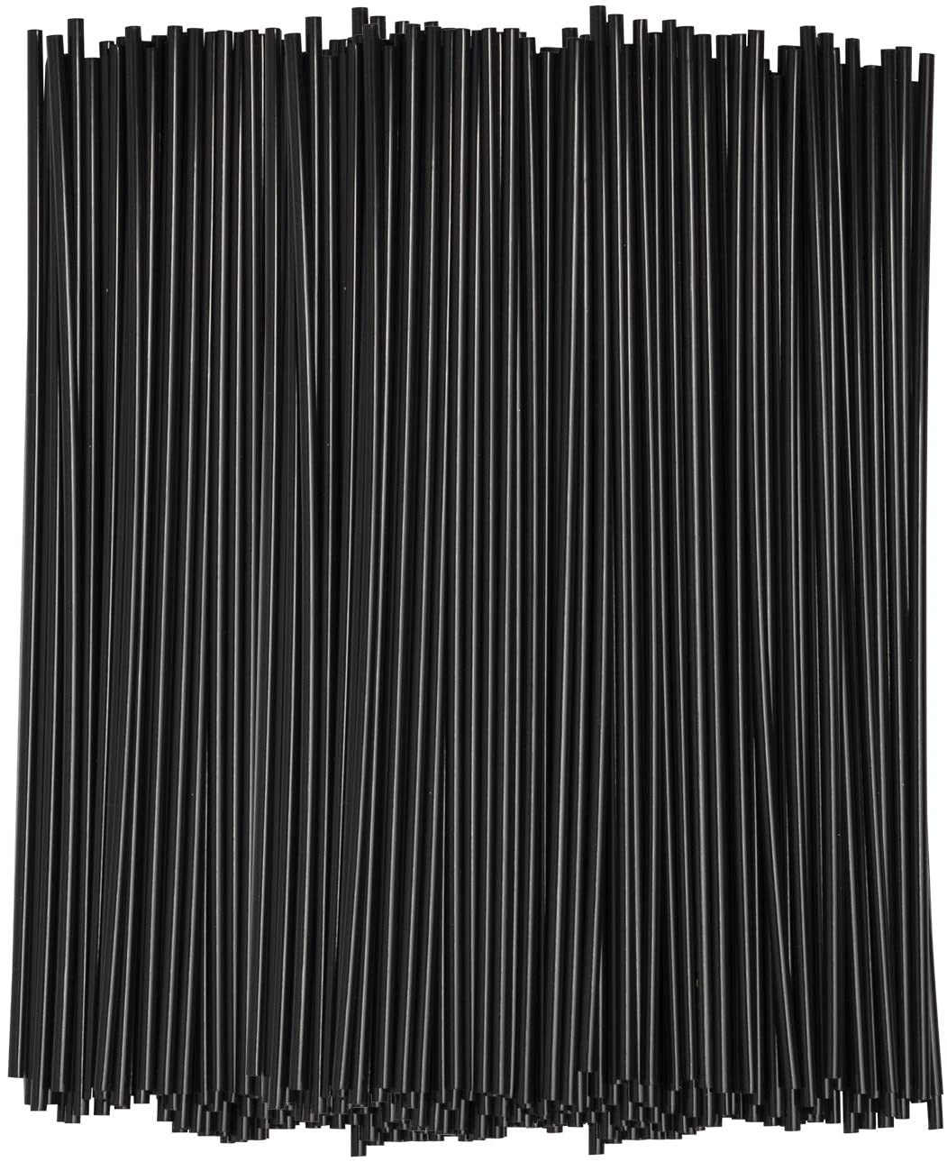 [1000 Bulk Pack] 7 Inch Plastic Sip Stirrers/Straws - Disposable Stir Sticks for Coffee & Cocktail - Black