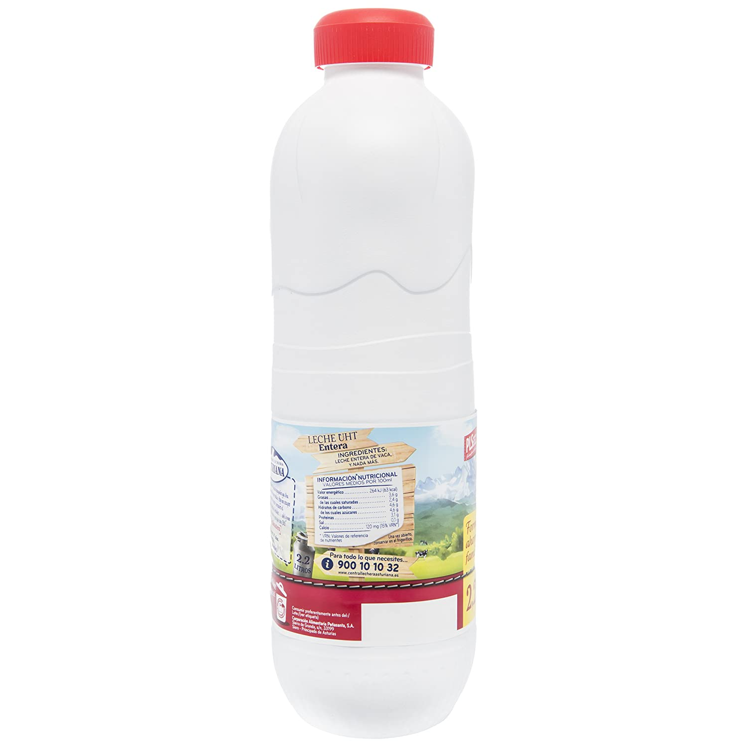 Central Lechera Asturiana Leche Entera - Paquete de 6 x 2200 ml - Total: 13200 ml: Amazon.es: Amazon Pantry