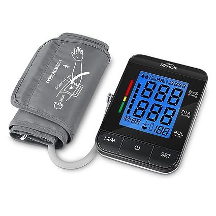 SIMBR Tensiómetro electrónico Brazo automático USB con Suministro, Dos Mode de usuarios y repetición de