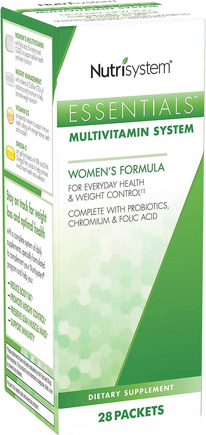 Nutrisystem Essentials Multivitamin System, Women s Formula, 28 Packets 5 Vitamins Each