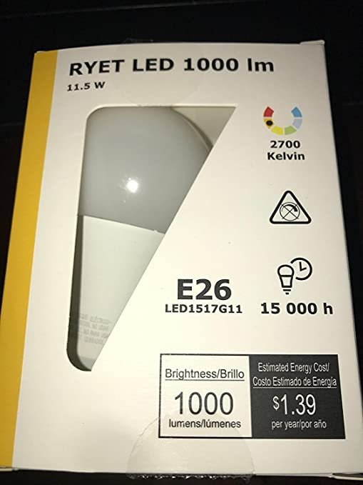 Ikea E26 A19 Led Light Bulb 400lm (4 Pack)