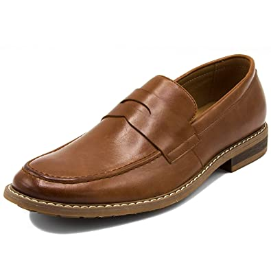 146dc8f04c9 Nautica Men s Dress Shoes Slip On Oxford Moc Toe Loafer-Elias-Tan Smooth-