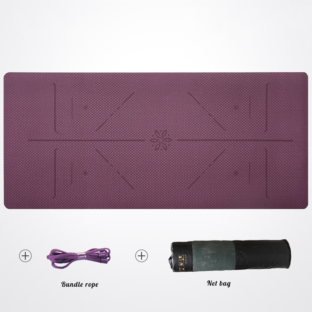 lila TRDyj Yoga Mat Advanced 0 23in 0 23in 0 23in Thin Sports and