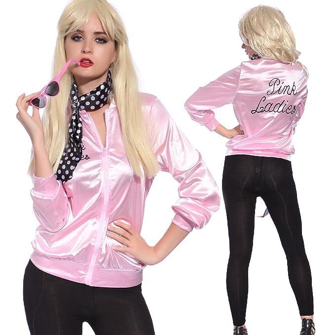 1950s Costumes TDmall 50S Grease T-Bird Danny T Bird / Pink Ladies Jacket Costume Fancy Dress  AT vintagedancer.com