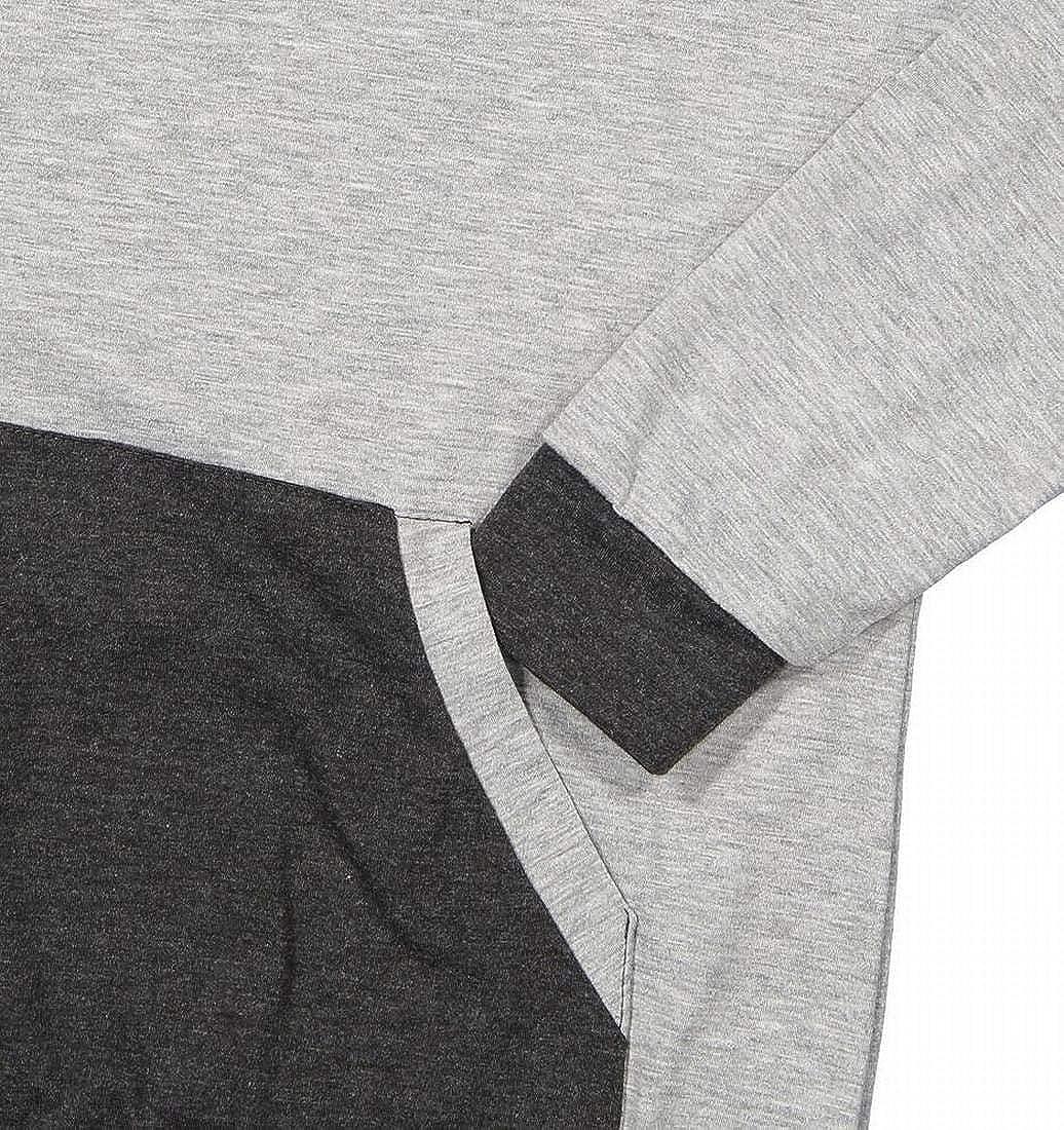 Zantt Womens Drawstring Pullover Long Sleeve Contrast Hoodies Sweatshirt