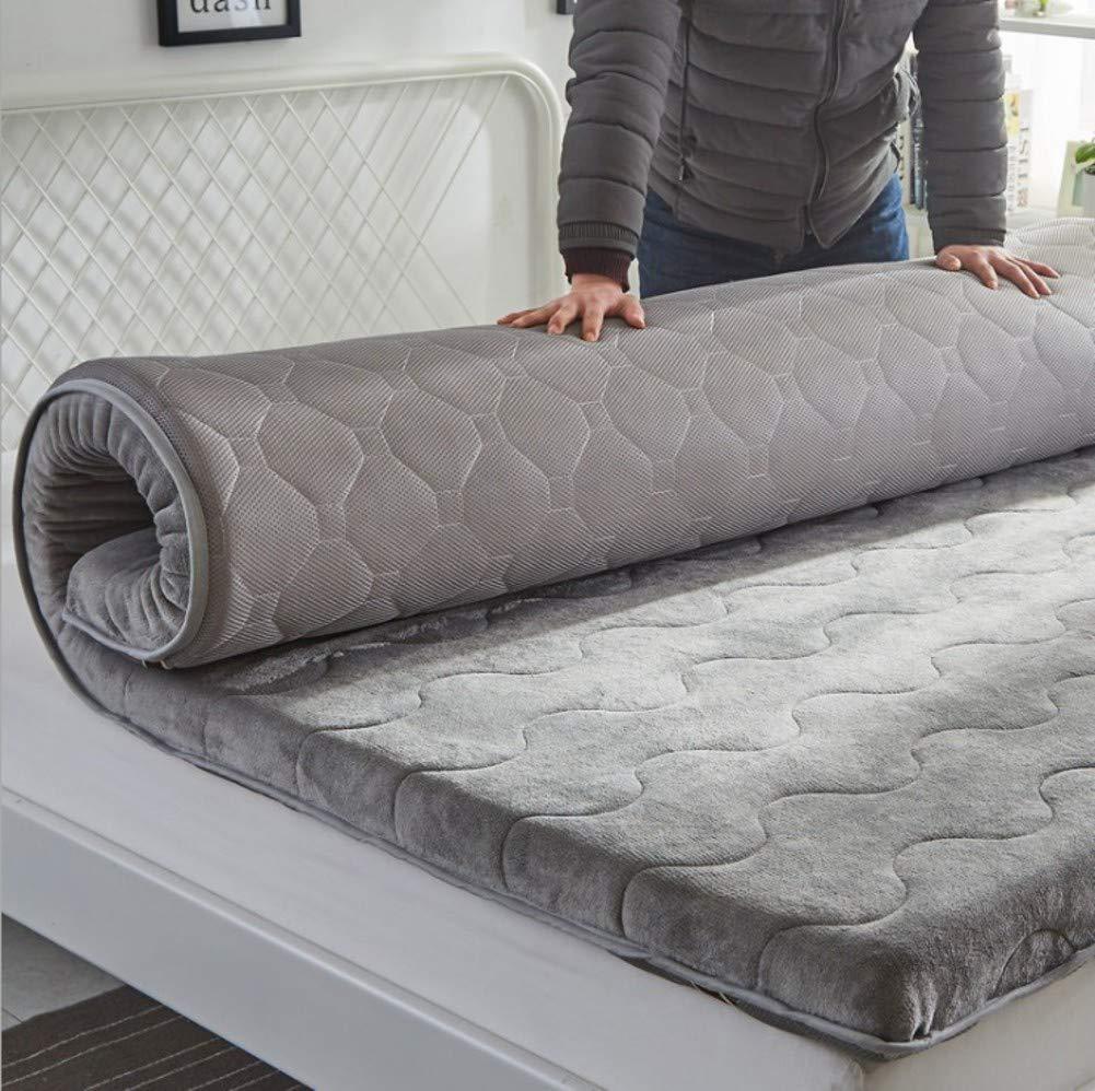 HIGHKAS Verdicken Sie gestrickte Baumwollmatratze, Faltbare Tatami-Bodenmatte Breathable rutschfeste Futon-Multifunktionsmatratze Pad-d 180x220cm (71x87inch)