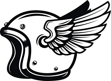 Reflective Motorcycle Police Wheel Wings Decal for car//truck//motorcycle//helmet