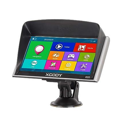 XGODY GPS 826,Navegador para Coche y Camión -Navegación de 7 Pulgadas-Llamadas