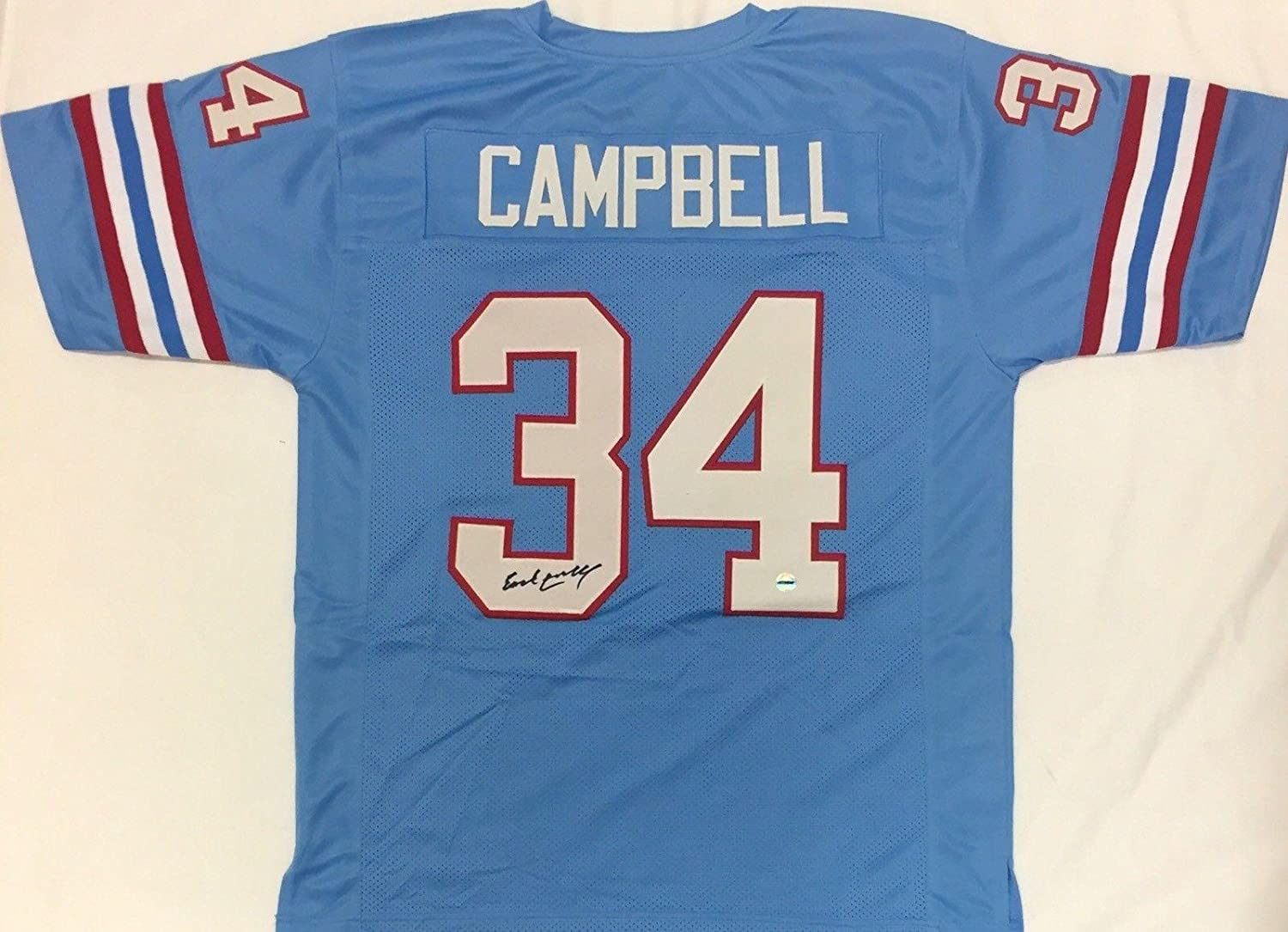 e98eda84 Amazon.com: Autographed Earl Campbell Jersey - Blue FSG - Autographed NFL  Jerseys: Sports Collectibles