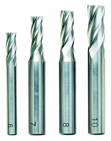 Proxxon Schaftfräsersatz, 4-tlg, DIN 844, HSS, 24620