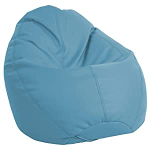 FDP SoftScape Dew Drop Bean Bag Chair with Supportive High-Back Design, for Kids, Teens and Adults, Alternative Seating for Dorms, Schools, Libraries, Daycares or Home - Teal