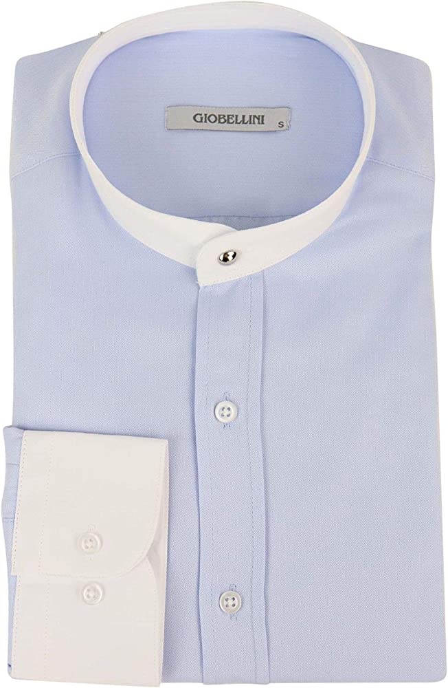 Giobellini Peaky Blinders Herringbone Camisa Desmontable con Cuello y botón sin Cuello para Hombre - - XX-Large: Amazon.es: Ropa y accesorios