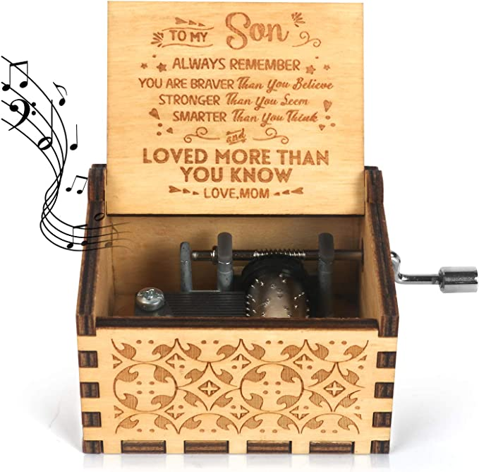 Kafete Caja de música manivela grabada en Caja Musical U R My ...