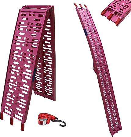 Trutzholm Alu Auffahrrampe 340 680 Kg Klappbar Alu Auffahrrampe Rampe Verladerampen Pink Rosa Sport Freizeit