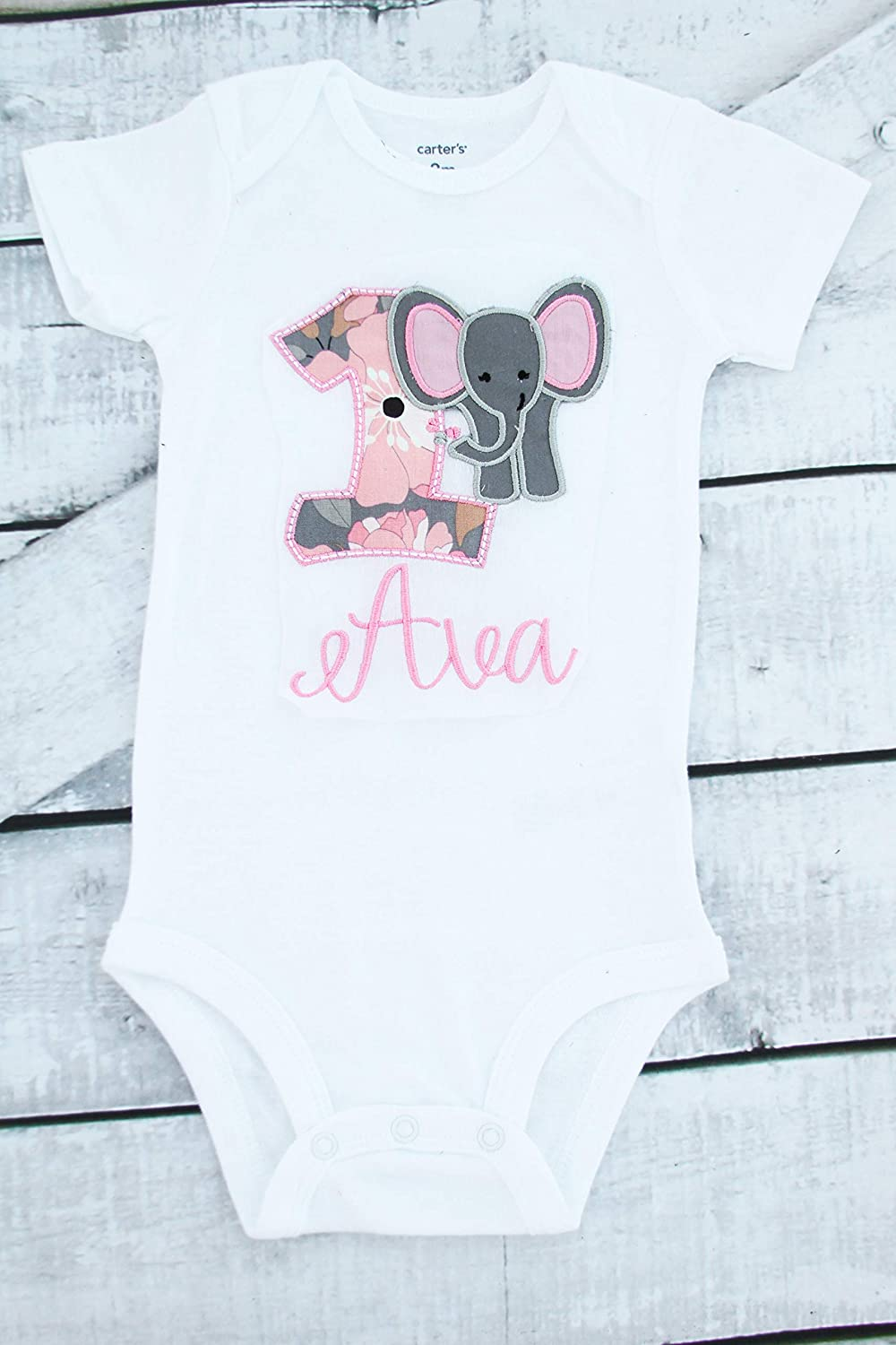 Hello Handmade Baby I Am One Woodland Animals Boho /& Balloons Cute First Birthday One Year Baby Bodysuit Outfit
