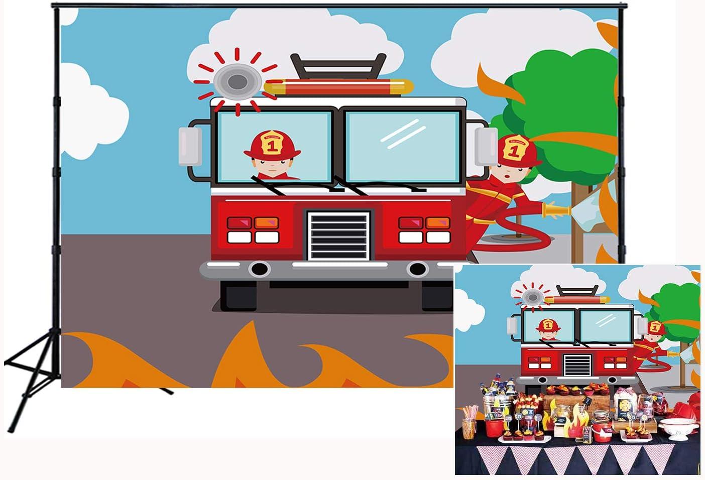 Fireman Party Banner Firestation Backdrop Fireman Photobooth Fireman DIGITAL FILE Fireman Banner Fireman Backdrop Firefighter Backdrop