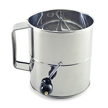 Norpro Polished 8-cup stainless steel sifter