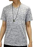 OVAL DICE(オーバルダイス) Tシャツ ネックレス セット 半袖 ゆる Vネック 無地 メンズ