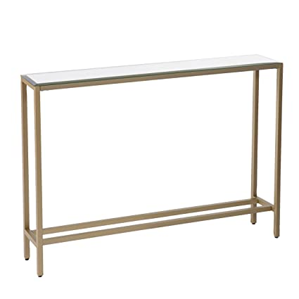 Superieur Amazon.com: Metal Skinny Console Table   Slim Profile W/Mirror Top  (36x29.5): Kitchen U0026 Dining