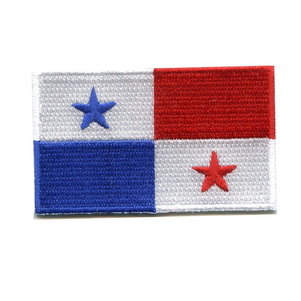 40 x 25/mm du Panama motif drapeau de Santiago Panama/0998/A /Écusson thermocollant ou /à coudre des Cara/ïbes