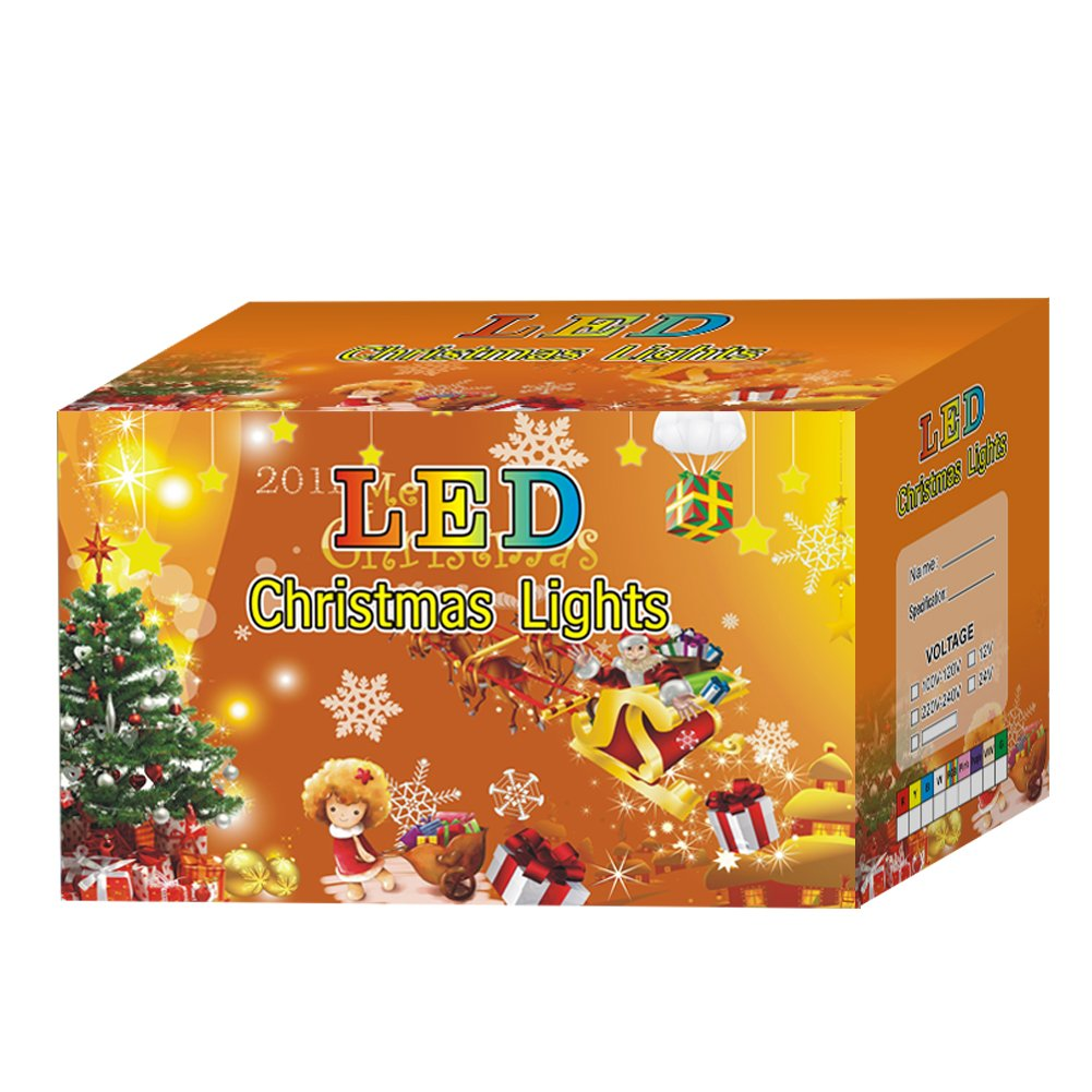 Fuloon 10M 80球チェリー ソーラーLEDライト 庭園ガーデンライト クリスマス、パーティー、結婚式 (カラー) B00N1JHF00 26861