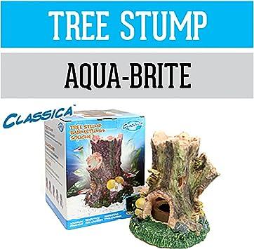 Arcadia Baumstumpf Cad28 Deko Aquarium Wasserfest Fur Meerwasser Und Susswasser Optional Led Beleuchtbar Amazon De Haustier