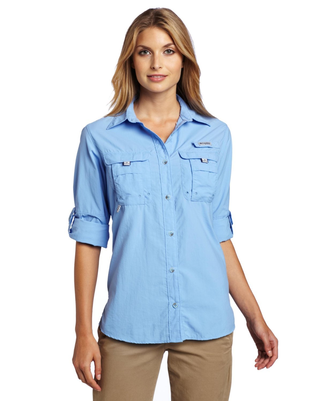 Amazon.com : Columbia Women's Bahama Long Sleeve Shirt : Athletic ...