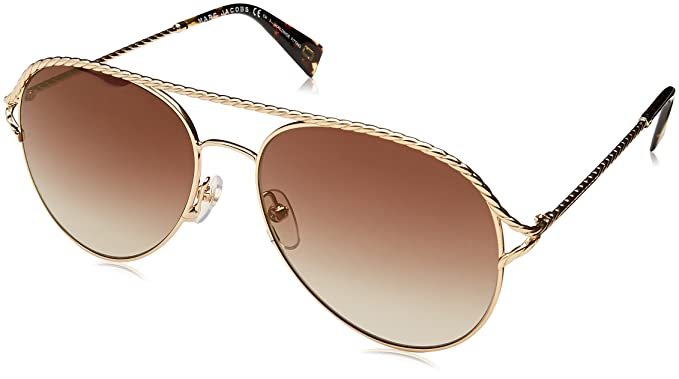 9df700b10 Image Unavailable. Image not available for. Color: Marc Jacobs Women's  Marc168s Aviator Sunglasses ...