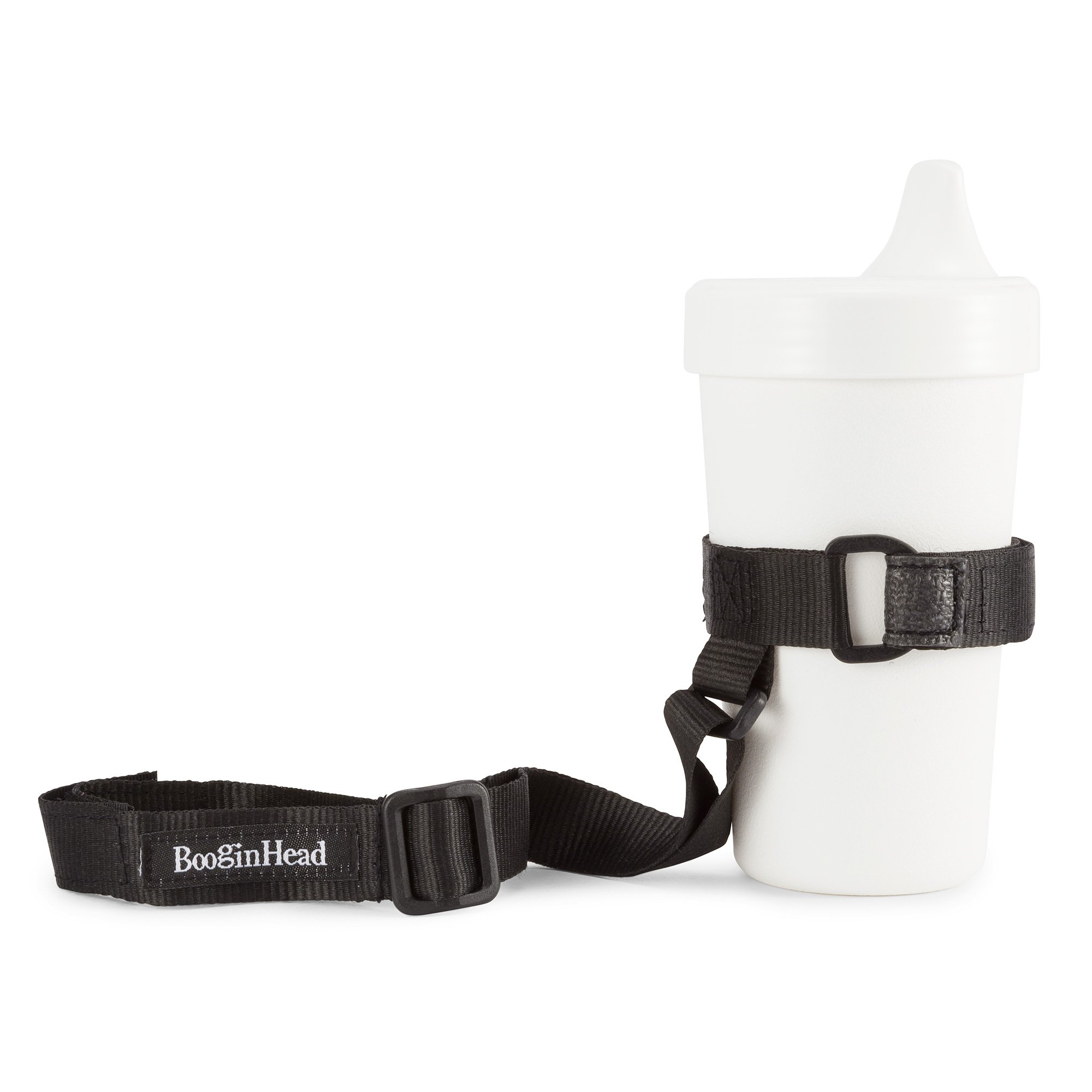 BooginHead - SippiGrip Sippy Cup and Bottle Holder, High Chair and Car Seat Universal Attachment Strap - Black