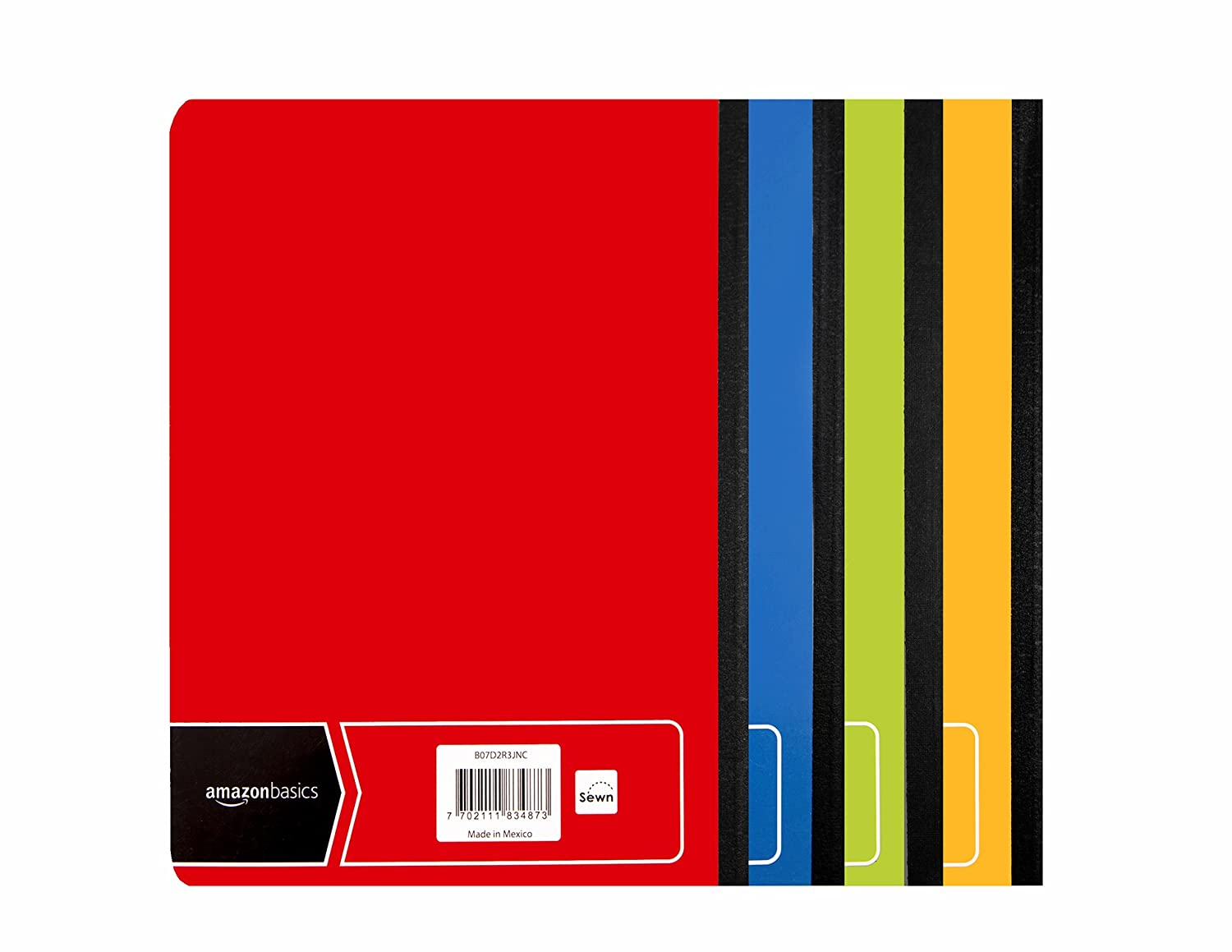 Basics College Ruled Composition Notebook 100-Sheet Marble Black 12-Pack
