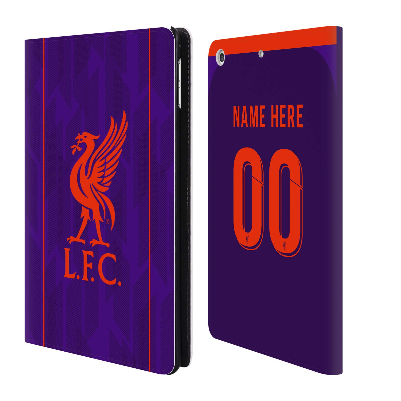 Custom Customized Personalized Liverpool Football Club Away Kit 2018/19 PU Leather Book Wallet Case Cover for iPad Mini 4