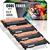 Cool Toner 4 Pack Compatible Samsung CLT-406S CLT 406 CLT-K406S CLT-C406S CLT-M406S CLT-Y406S Toner Cartridge For Samsung CLP-365w CLX-3305FW xpress c410w C460W (Black/Cyan/Yellow/Magenta)