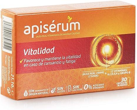 Apisérum Vitalidad Cápsulas - Jalea Real con Vitamina C ...