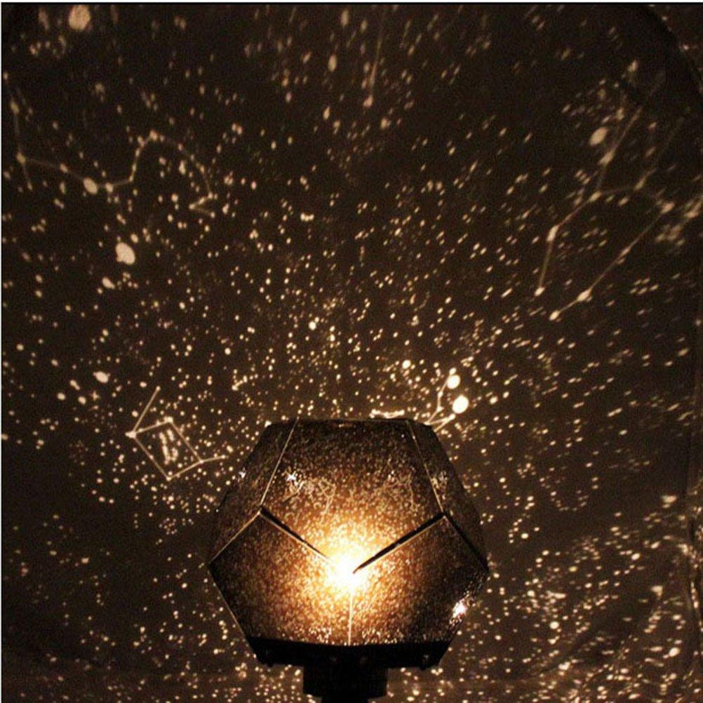 LED Nacht Rotierenden Licht Projektor Spin Sternen Mond Sky Star Master Kinder