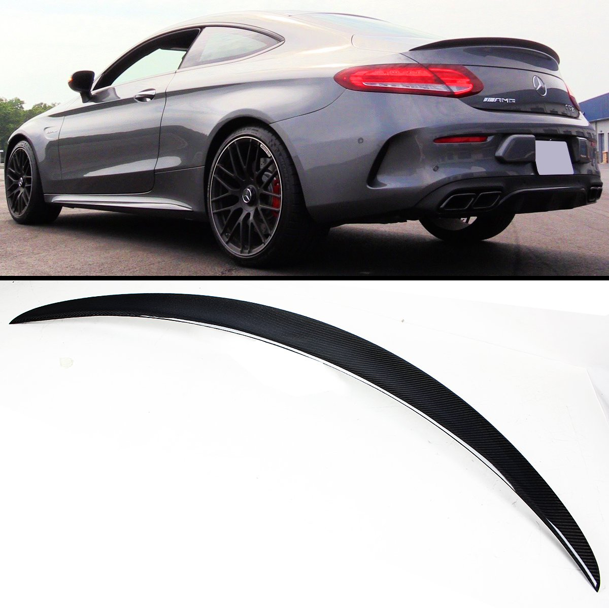 Novel Carbon Fiber Rear Trunk Spoiler Boot Lid for BMW F82 M4 Coupe 2015-17 BOOT
