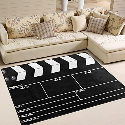 ALAZA Movie Clapboard Black Area Rug Rug