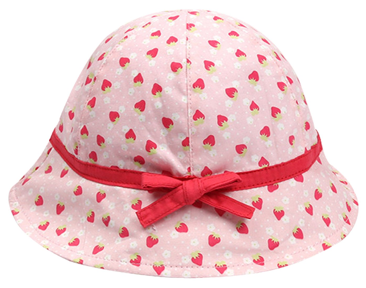 5ce7658b5c3 Girl Cherries Sun Protection Bucket Hat Kids 50+ SPF UV Protective Wide Brim  Happy Cherry