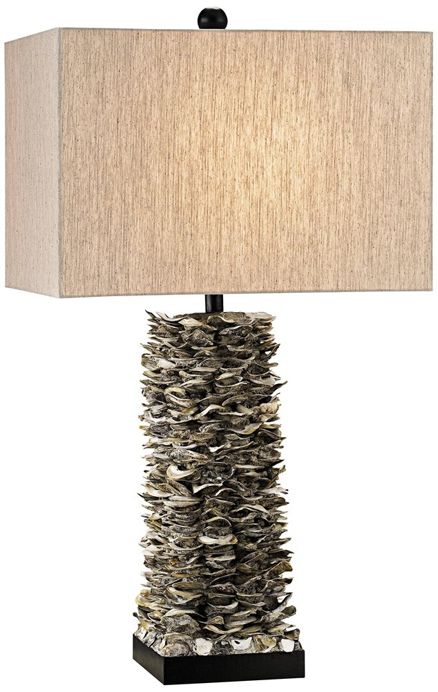 Currey And Company Villamare Oyster Shell Table Lamp Amazon Com