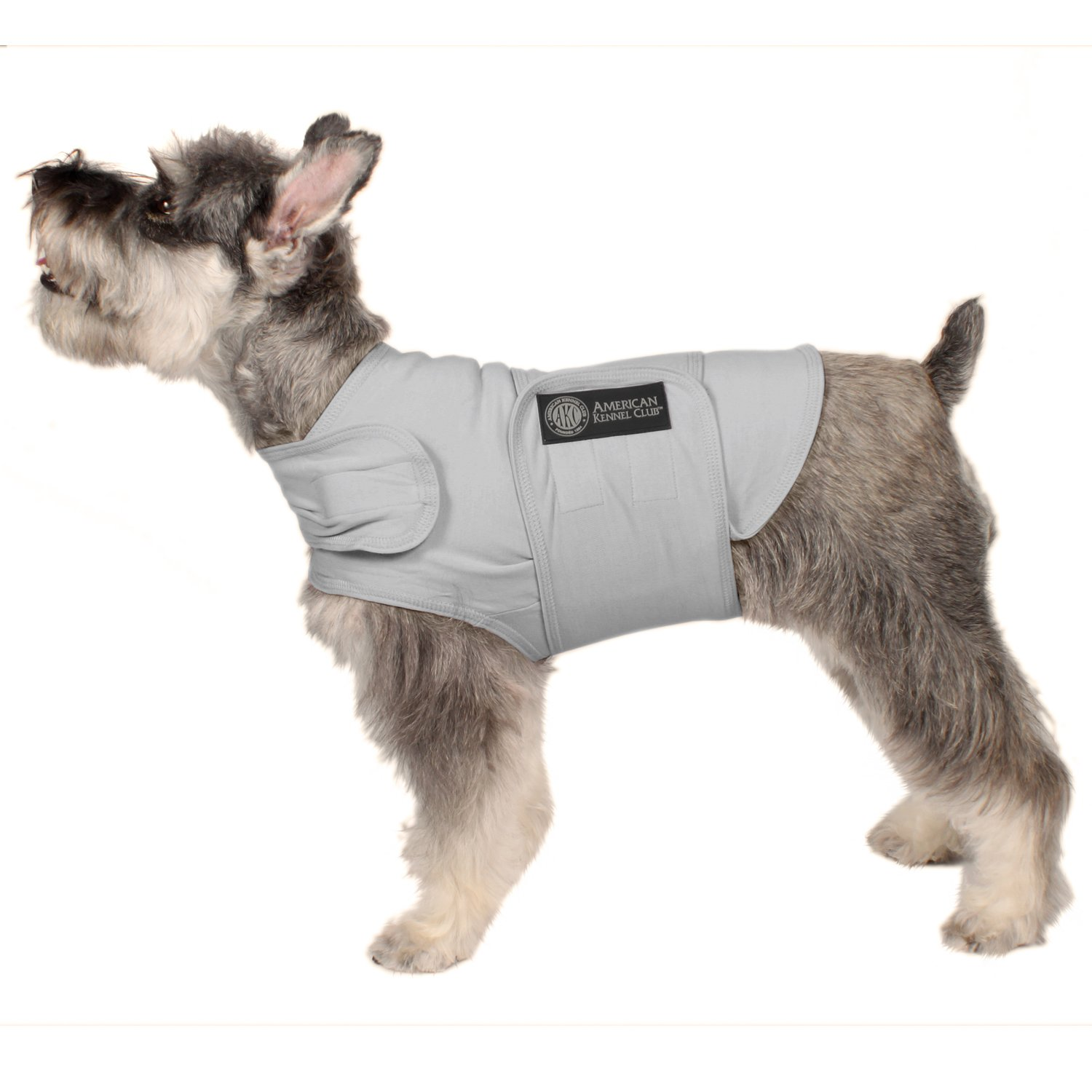 American Kennel Club Anti Anxiety and Stress Relief Calming Coat for Dogs Grey