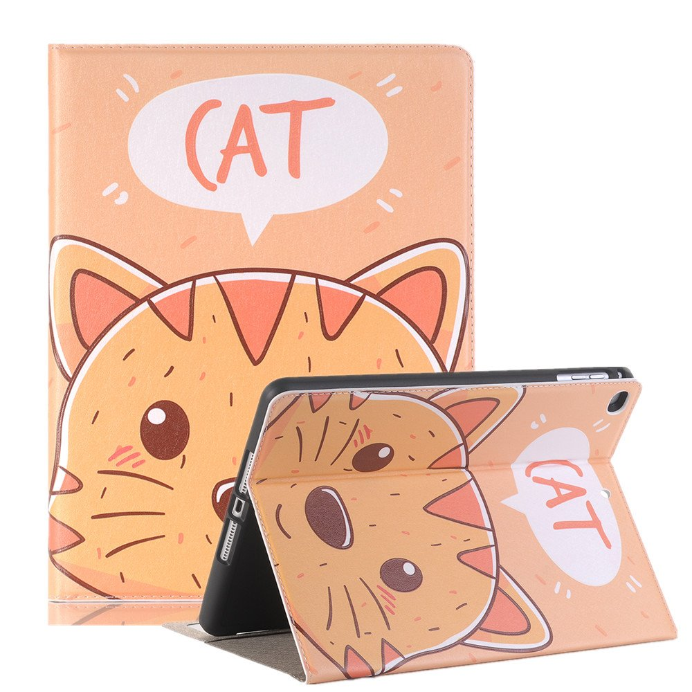 10.5 inch iPad Case Pro 10.5 Sleeve,TechCode Luxury Cute Cartoon Pattern Folio Stand Protective Case PU Leather Book Cover With Credit Card Slots & Pencil Holder Slim Fit for Apple iPad Pro 10.5 inch