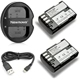 Newmowa D-Li90 Battery (2-Pack) and Dual USB Charger for Pentax D-LI90 and Pentax 645D, 645Z, K-01, k-1,K-3, K-5, K-5 II, K-5 IIs, K-7