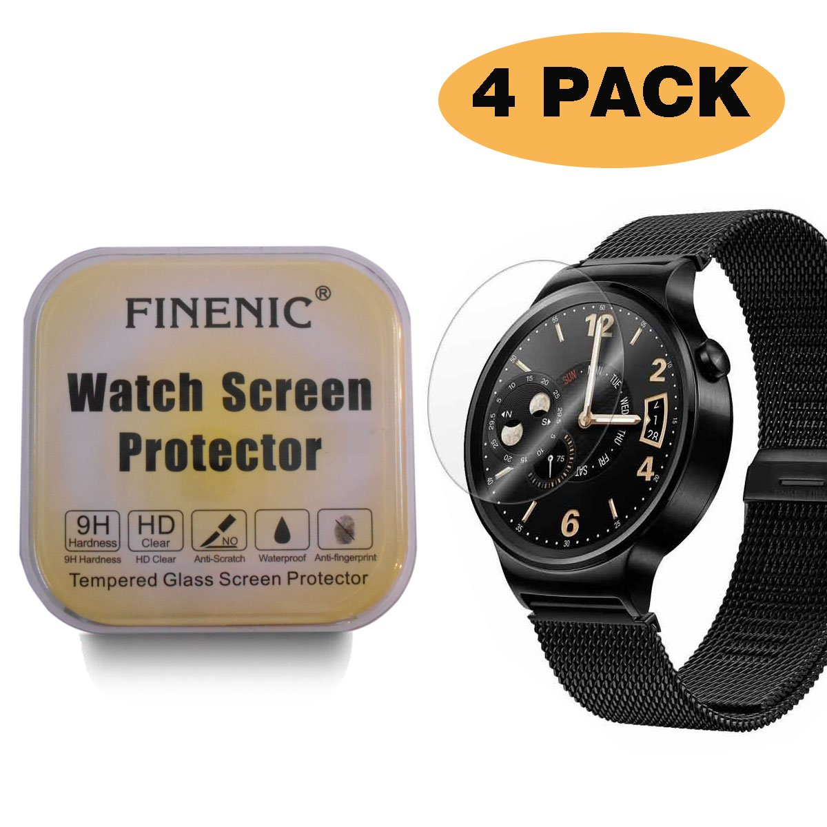 Amazon.com: FINENIC [4 Pack] Screen Protector for Huawei ...