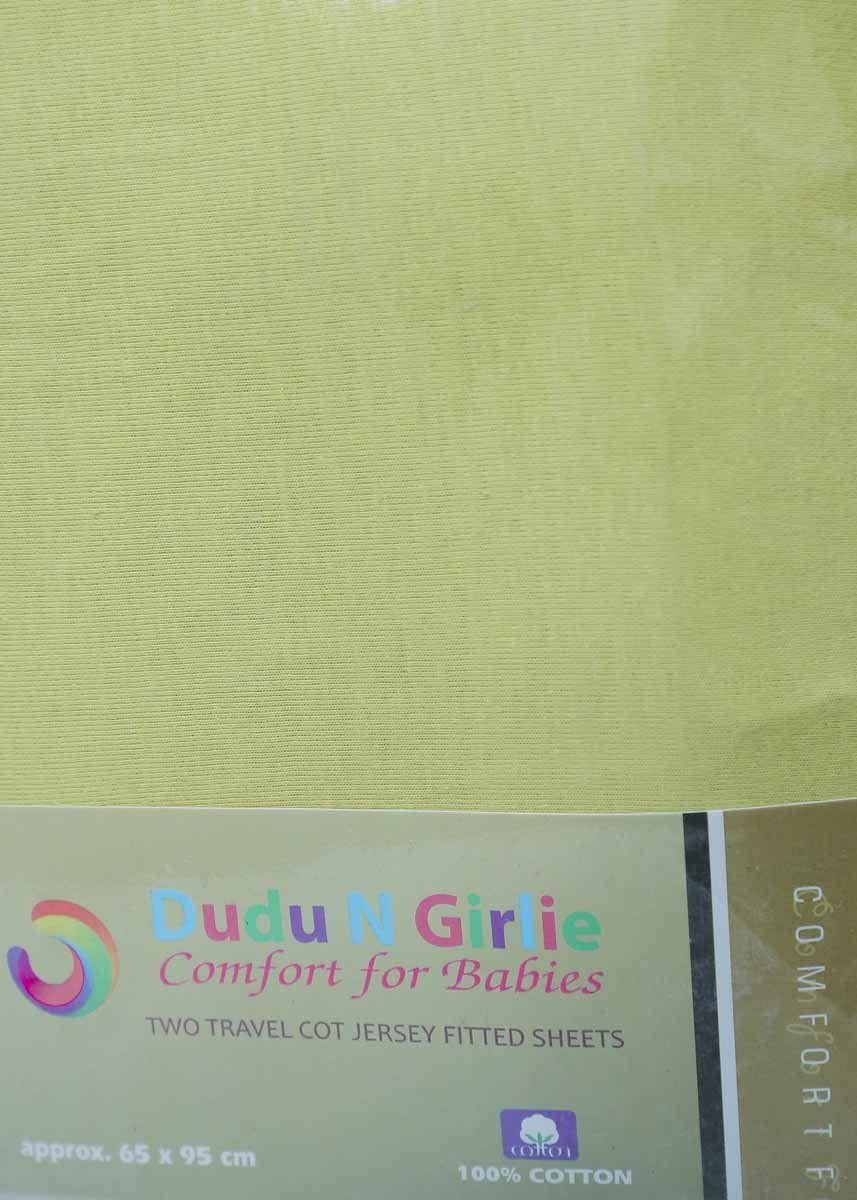 Dudu N Girlie algod/ón S/ábana bajera ajustable para mois/és color rosa