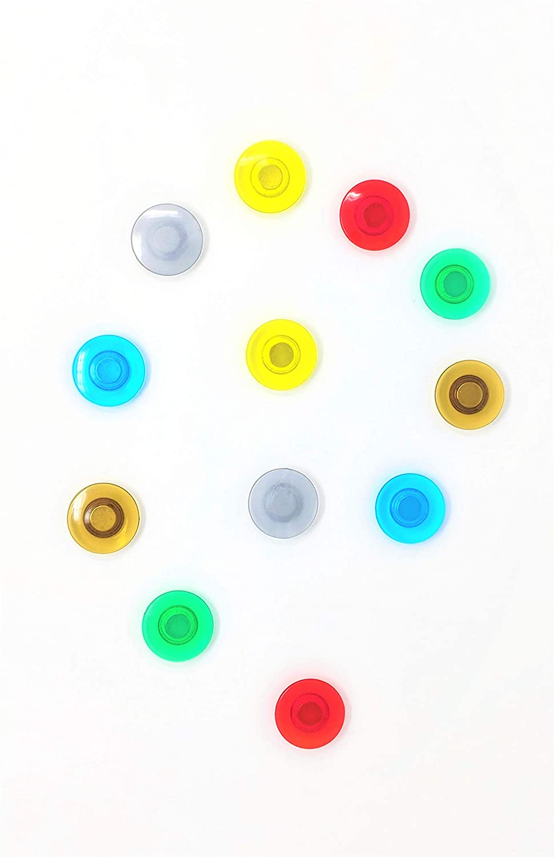 12 Pack Rare Earth Magnet Set for Glass Dry Erase Whiteboards/Regular White Boards, Refrigerators Everworks