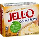 Jell-O Cook & Serve Banana Cream Pudding & Pie Filling (3 oz Boxes, Pack of 6)