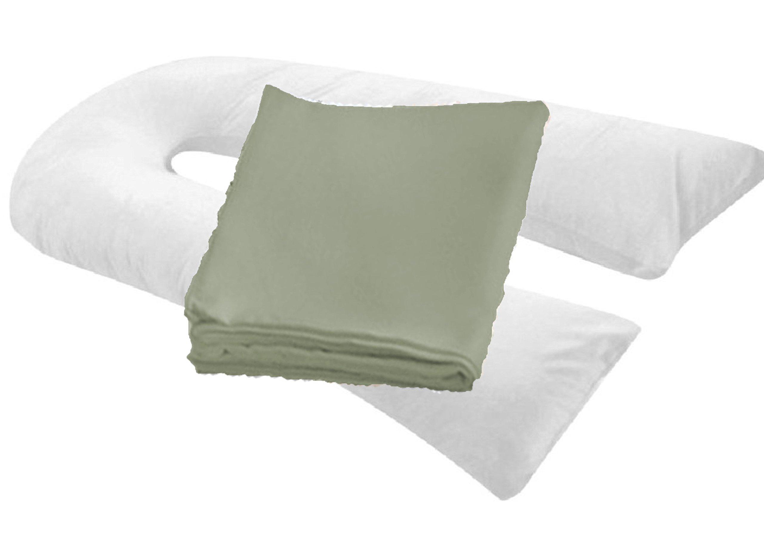 "20"" X 130"" Oversized Body Pillowcase/cover - Zipper End ( GRAY )"