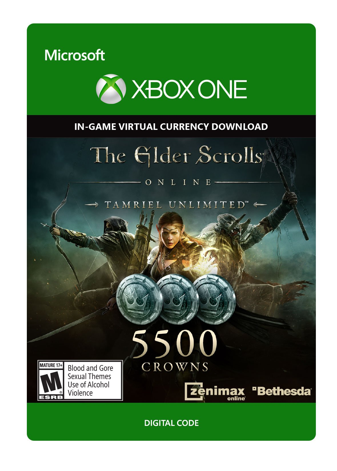 The Elder Scrolls Online Tamriel Unlimited Edition 5,500 Crowns - Xbox One Digital Code