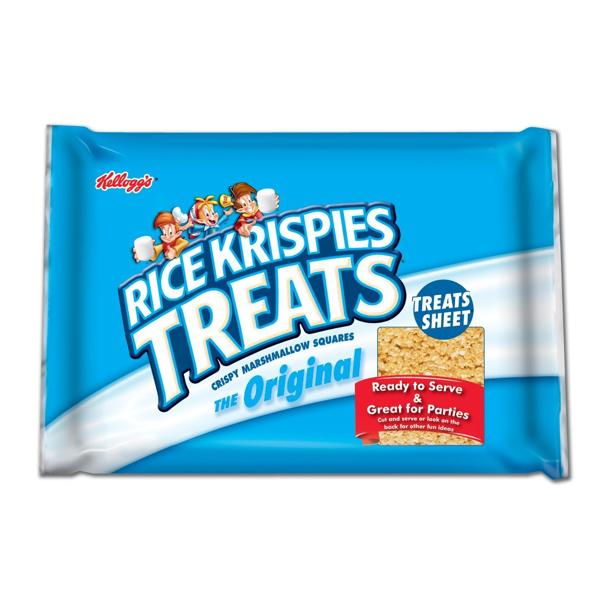 Kellogg's Rice Krispies Treats, Snack Bars Super Sheet, 32-Ounce Package