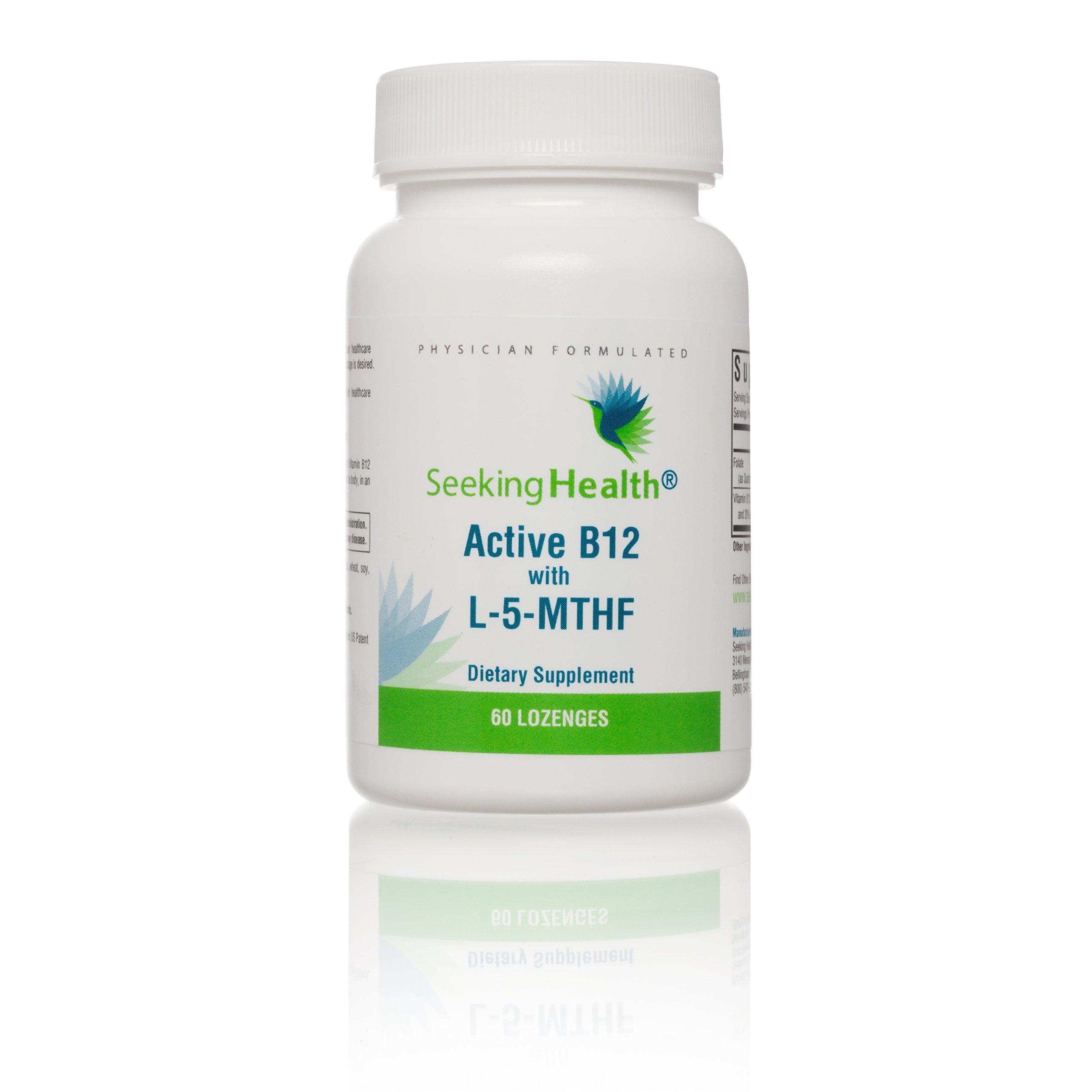 Seeking Health | Active B12 Lozenge with L-5 MTHF | Vitamin B12 Supplement | Methylfolate | 60 Lozenges by Seeking Health