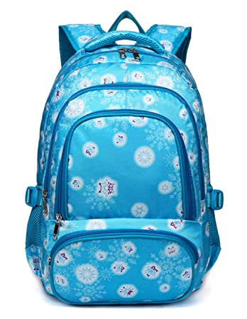 dd032f24a698 BLUEFAIRY Cute Backpack for Girls Little Kids School Bags for Kindergarten  Bookbags with Frozen Snow Print Gifts (Blue)